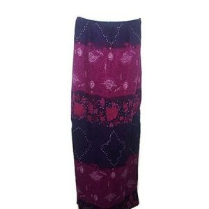 Boutique Europa Purple Pink Floral Maxi Skirt
